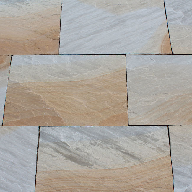 Picture of New York Sandstone Calibrated Paving Slabs - 17.8 SQM Job Lot