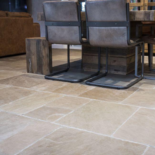 Picture of Tudor Sandstone - Tumbled & Brushed 900x600x22mm - 7.5 SQM Job Lot