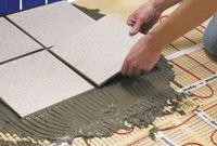 Tiling over electric under floor heating