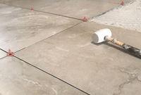 Tiling onto uneven floors