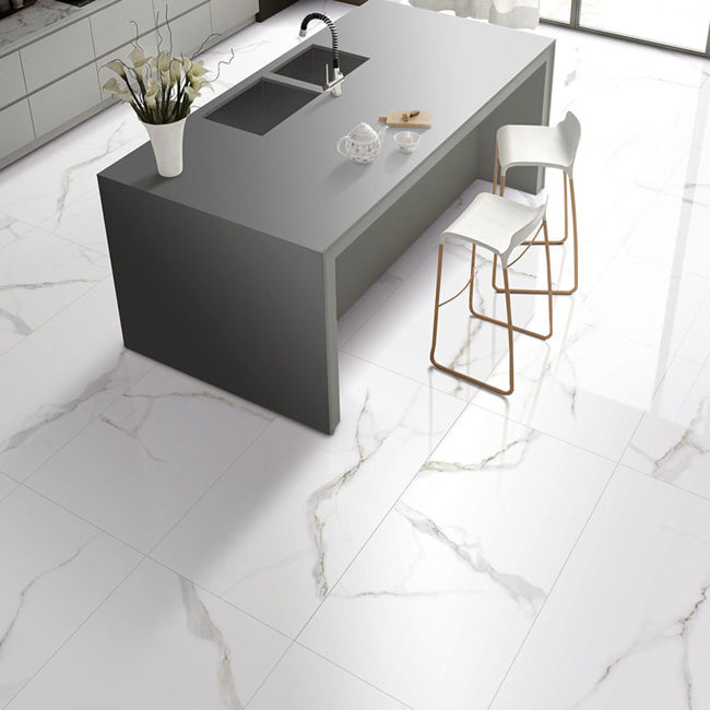 Picture of Esterell Bianco Polished Porcelain Tiles