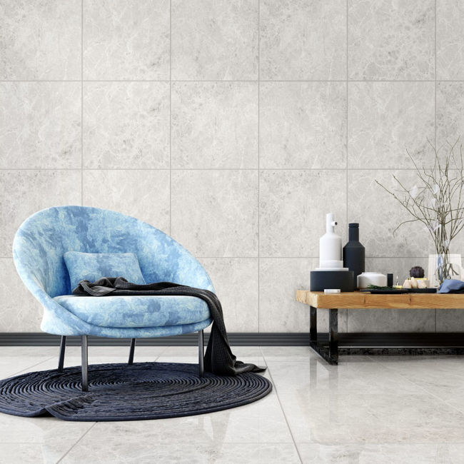 Picture of Grey Emperador Polished Porcelain Tiles