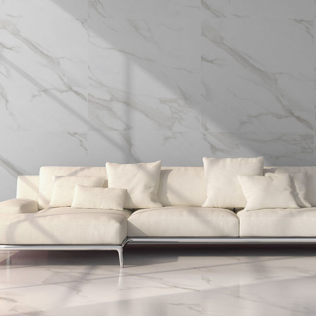 Picture of Nuova Carrara Polished Porcelain Tiles