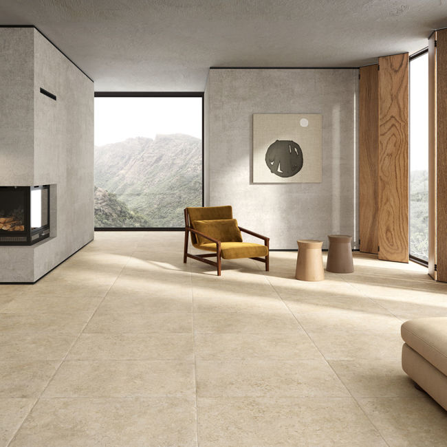 Picture of Latour Beige Antique Effect Porcelain