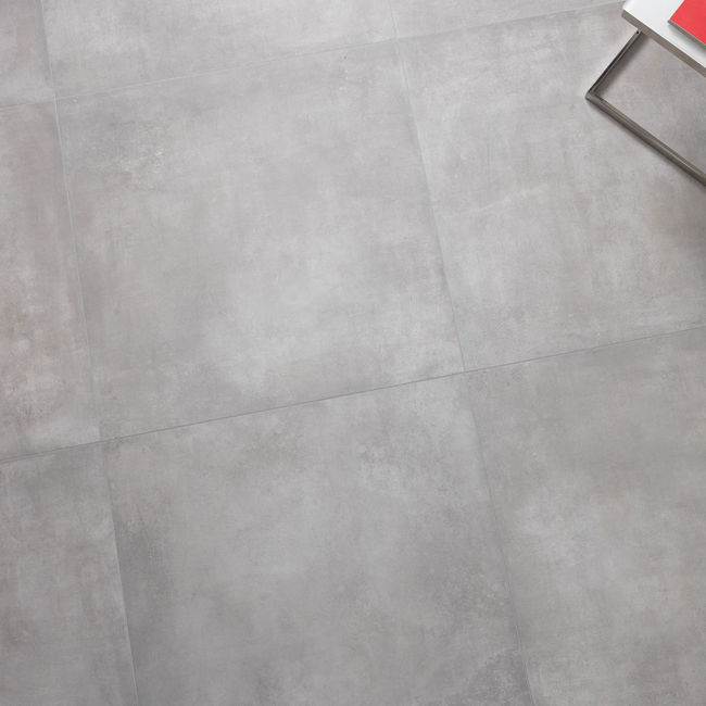 Picture of Boston Grey Concrete-Effect Porcelain Tiles