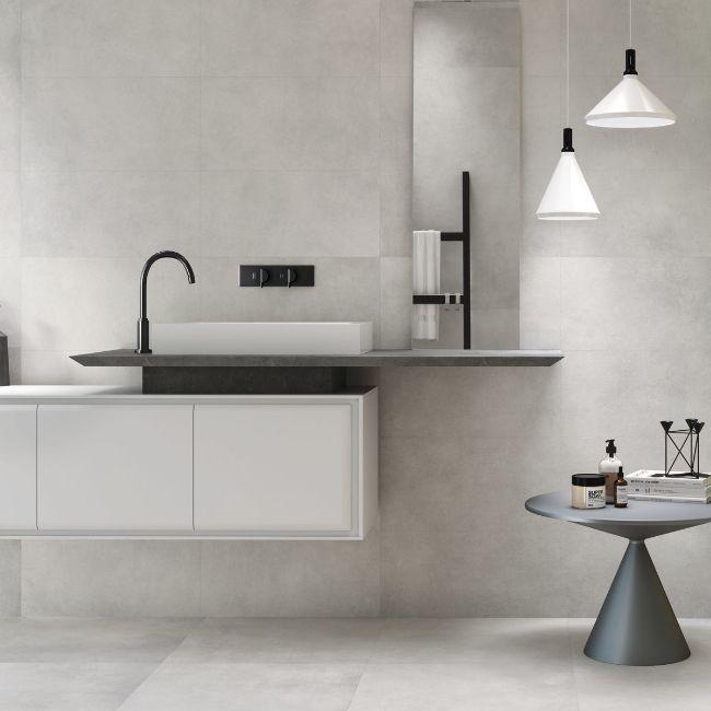 Picture of Lavo Silver Concrete-Effect Porcelain Tiles