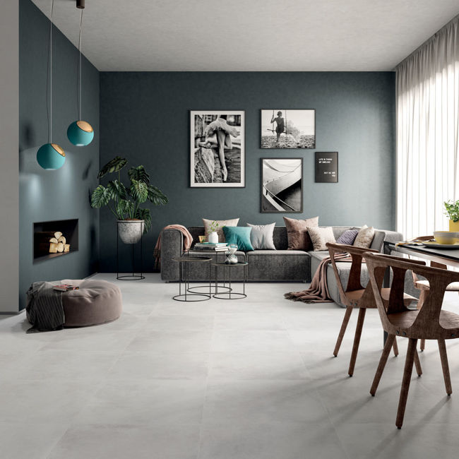 Picture of Phase Silver Concrete-Effect Porcelain Tiles