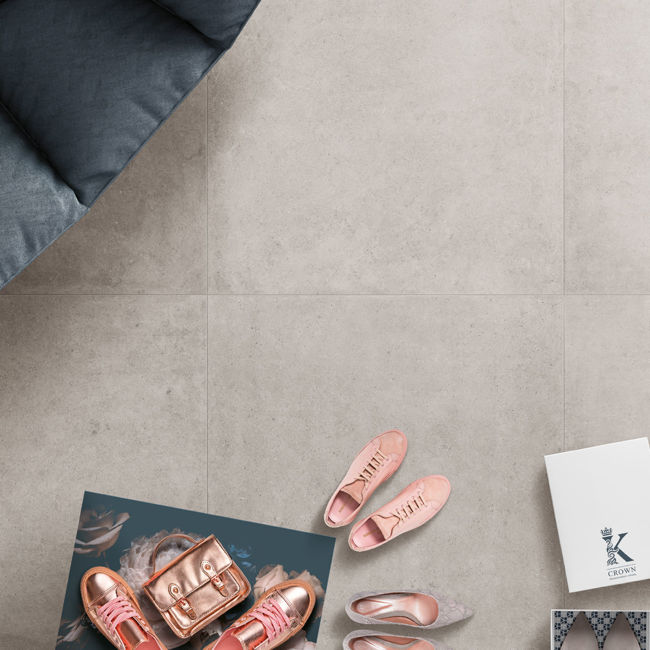 Picture of Piazza Grigio Stone Effect Porcelain Tiles