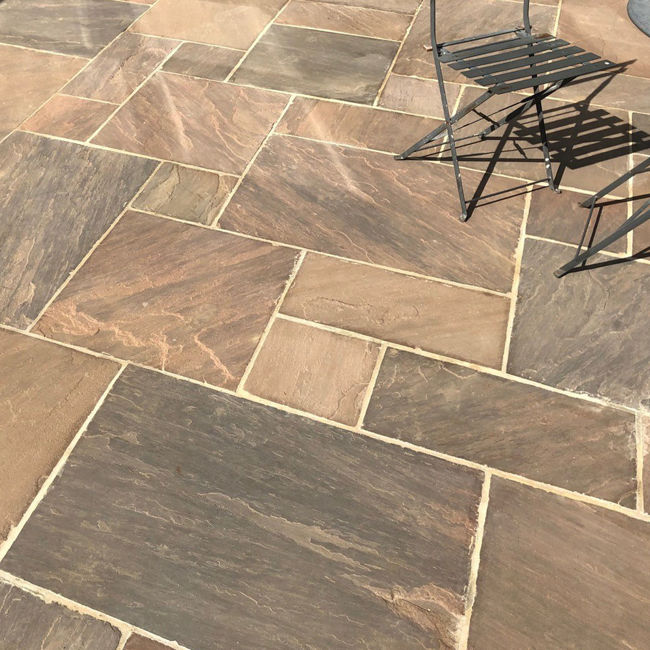 Picture of Classic Autumn Umber Sandstone 18.8 sqm Calibrated Paving Slab Pack