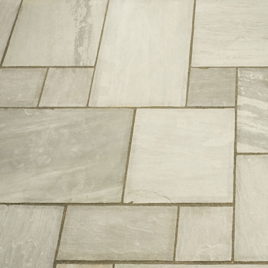 Picture of Classic Silver Grey Sandstone 18.8 sqm Calibrated Paving Slab Pack