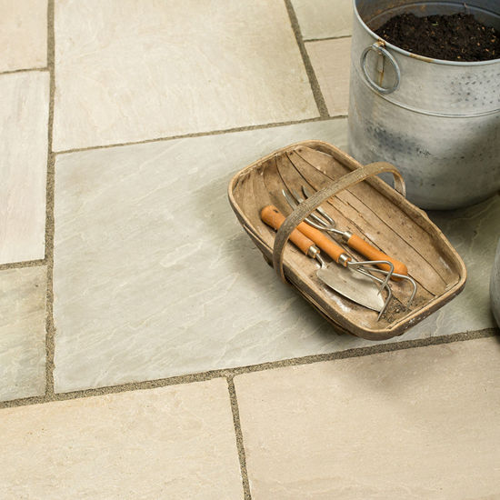 Picture of Classic Sunset Buff Sandstone 18.8 sqm Calibrated  Paving Slab Pack