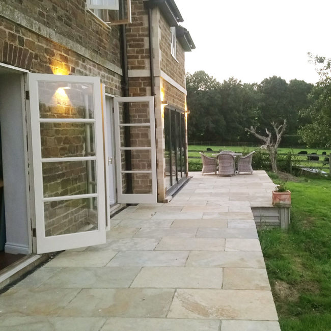 Picture of Mandalay Buff Limestone 600x900mm Calibrated Paving Slabs