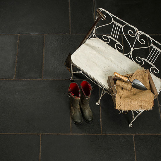 Picture of Midnight Black Limestone 15.3 sqm Calibrated Paving Slab Pack