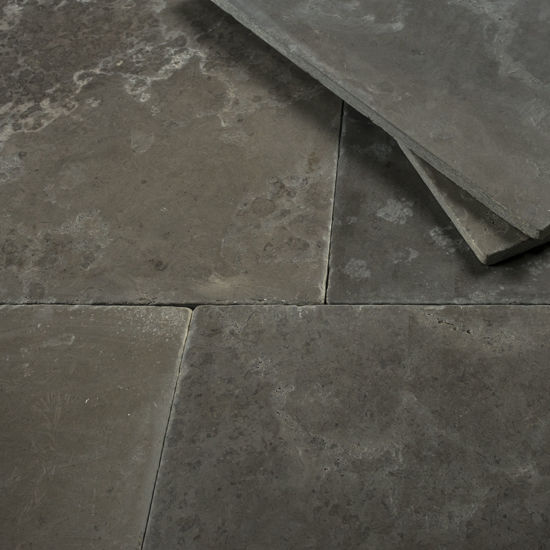Picture of Holden Grey Limestone Tiles - Tumbled & Brushed