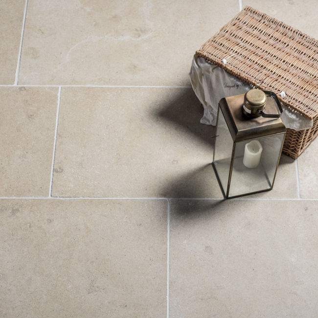 Picture of Versailles Limestone Tiles - Tumbled & Brushed