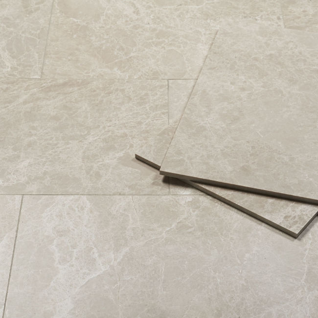 Picture of Emperador Bianco Marble Tiles - Honed