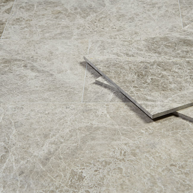 Picture of Silver Emperador Marble Tiles - Honed