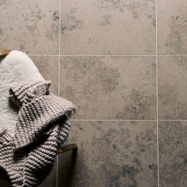 Picture of Jura Grey Limestone Tiles - Honed