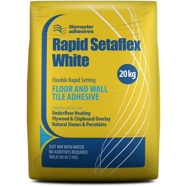 Picture of Tilemaster Setaflex Rapidset White Adhesive - 20kg