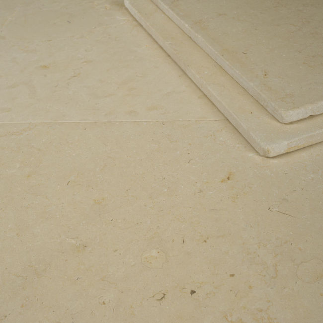 Picture of Horsham Crema Limestone Tiles - Tumbled & Brushed