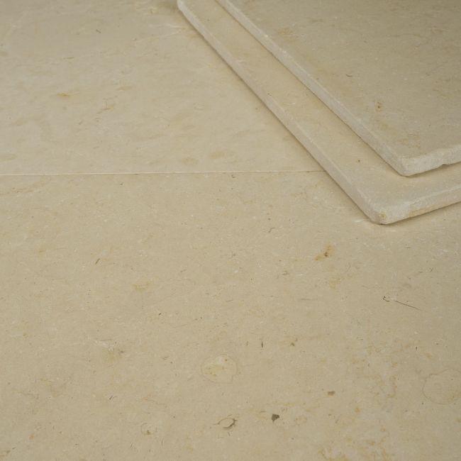 Picture of Horsham Crema Limestone Tiles - Tumbled & Brushed