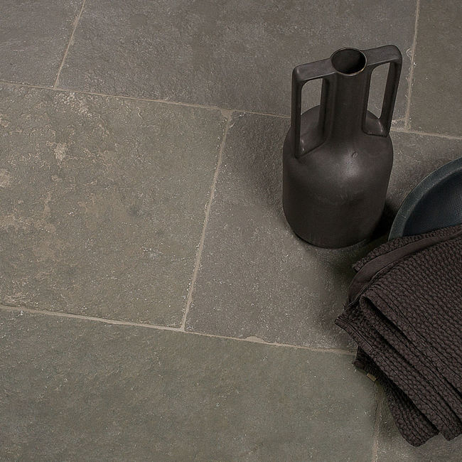 Picture of Camden Grey Limestone Tiles - Tumbled & Brushed