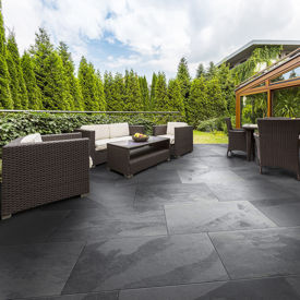 Picture of Mimica Slate Nero Porcelain Paving Slabs