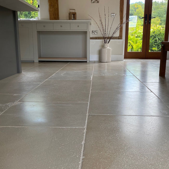Picture of London Flax Sandstone Tiles -  Tumbled & Brushed