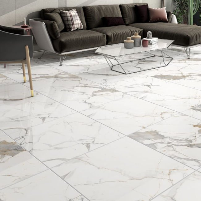 Picture of Venice Gold Polished Porcelain Tiles