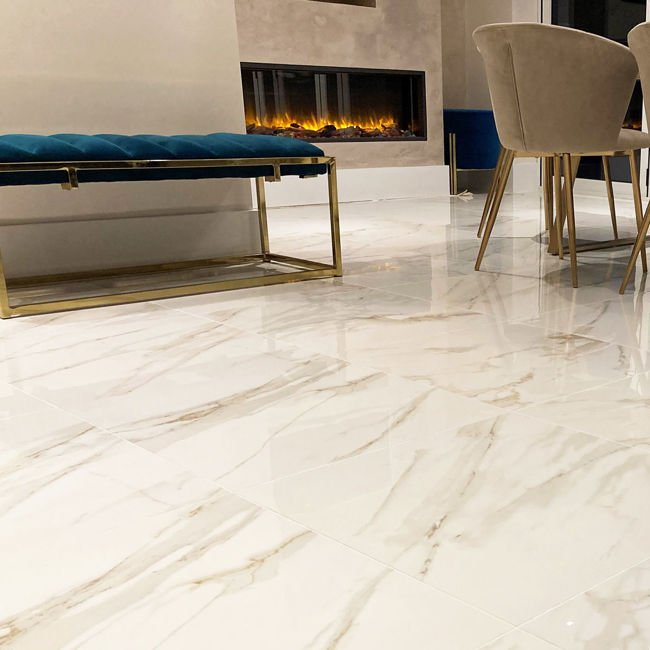 Picture of Marmo Calacatta Oro Polished Porcelain Tiles