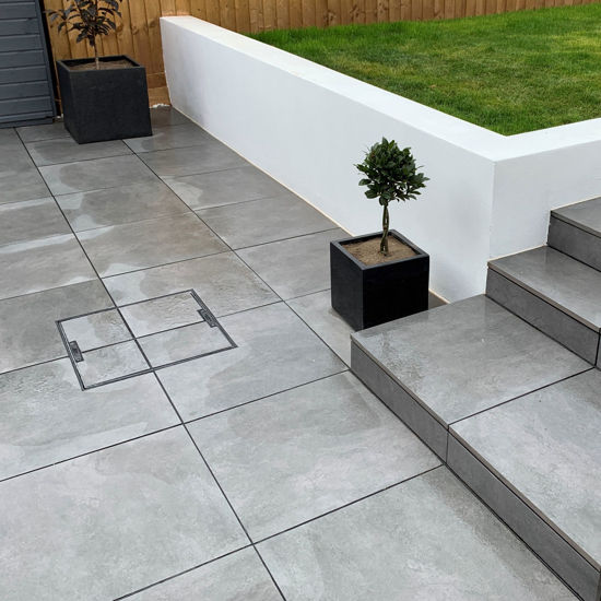 Picture of Vale Anthracite Porcelain Paving Slabs