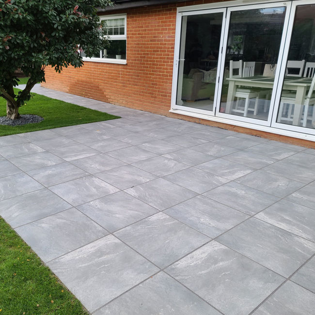 Outdoor Paving - Yosemite Grey Porcelain Paving Slabs | StoneSuperstore
