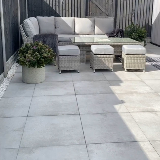 Outdoor Paving - Eaton Gris Porcelain Paving Slabs | StoneSuperstore