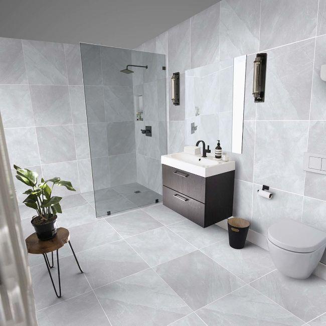 Picture of Bonita Silver Polished Porcelain Tiles