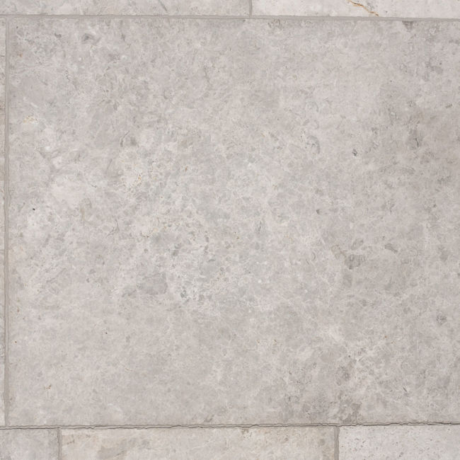 Picture of Silver Emperador Marble Tiles - Tumbled & Brushed