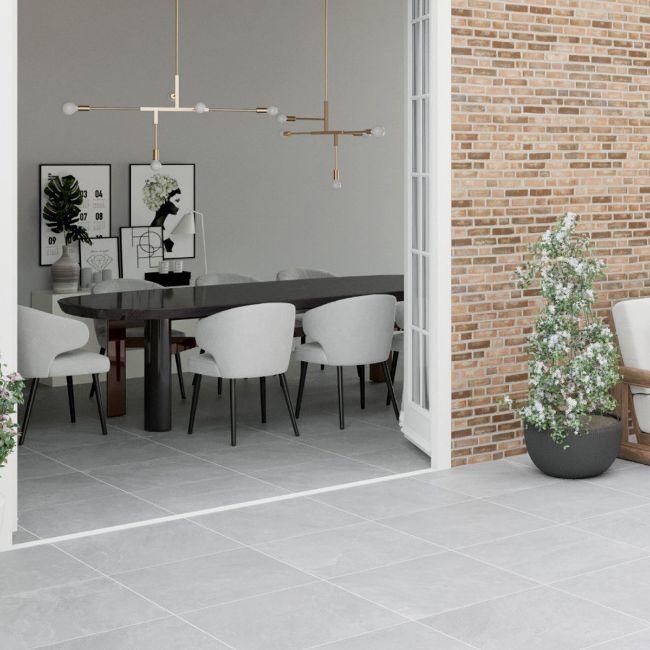 Picture of Rock Slate Grigio Porcelain Tiles