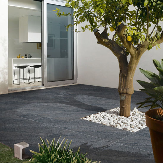 Picture of Delta Anthracite Porcelain 15.3 SQM Mixed Size Patio Paving Pack