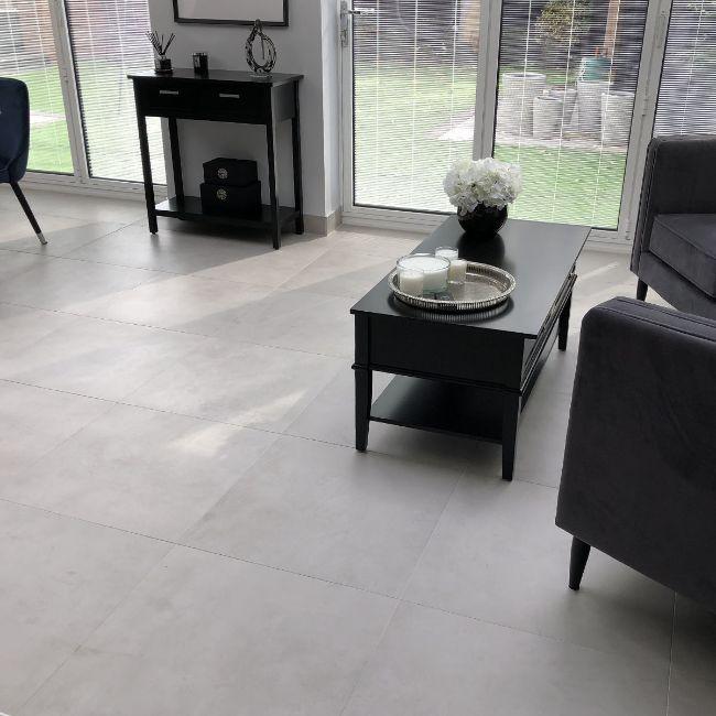 Picture of Cementone Grey Concrete-Effect Porcelain Tiles