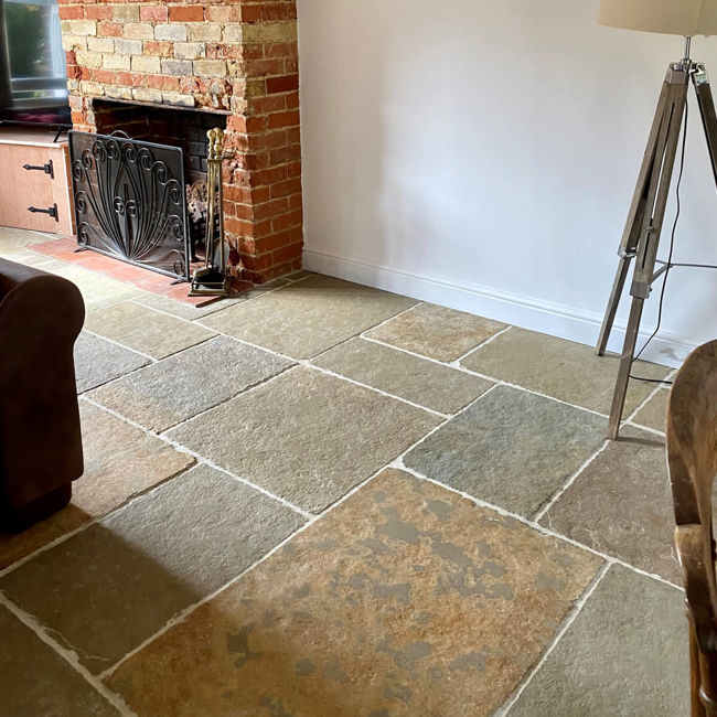 Picture of Somerset Limestone Tiles - Tumbled & Brushed